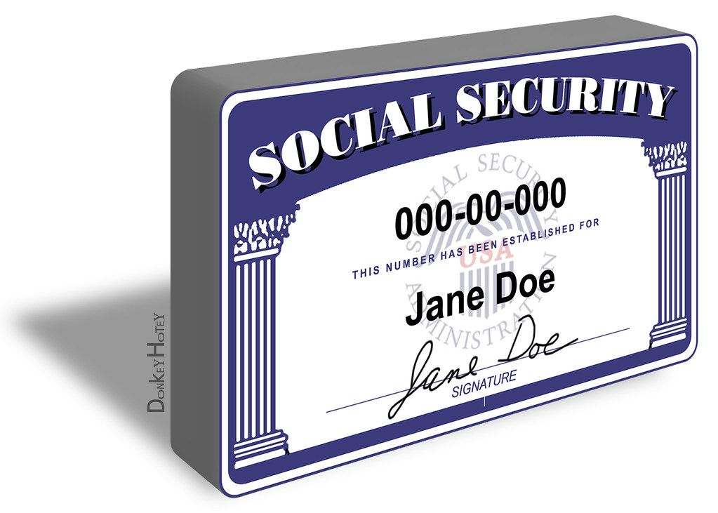 A fake social security card