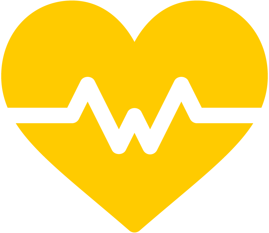 Heart icon with pulse line